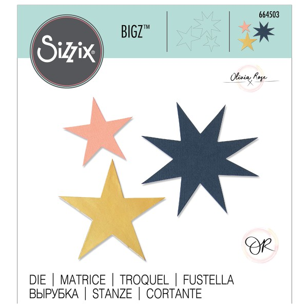 Matrice Sizzix Bigz - Étoiles - Photo n°1