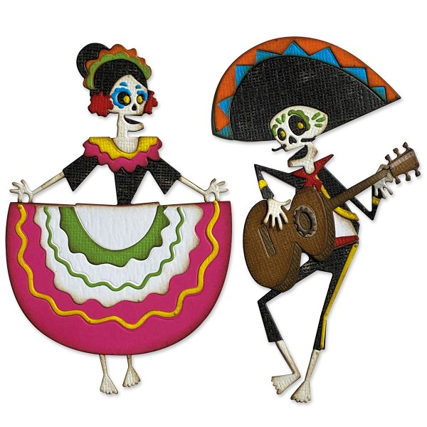 Matrice Sizzix Thinlits - Squelettes mexicains - 21 pcs - Photo n°2