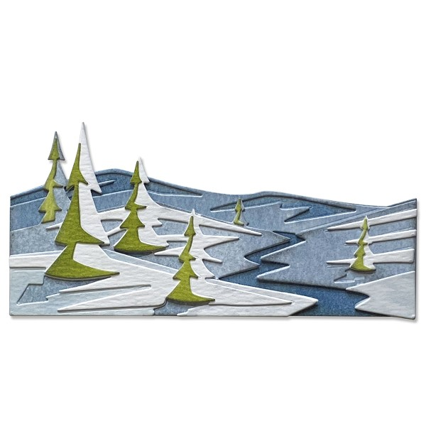 Matrice Sizzix Thinlits - Paysage enneigé - 4 pcs - Photo n°2