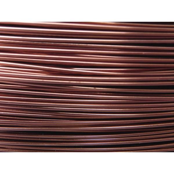 2 Mètres fil aluminium cognac 1mm - Photo n°1