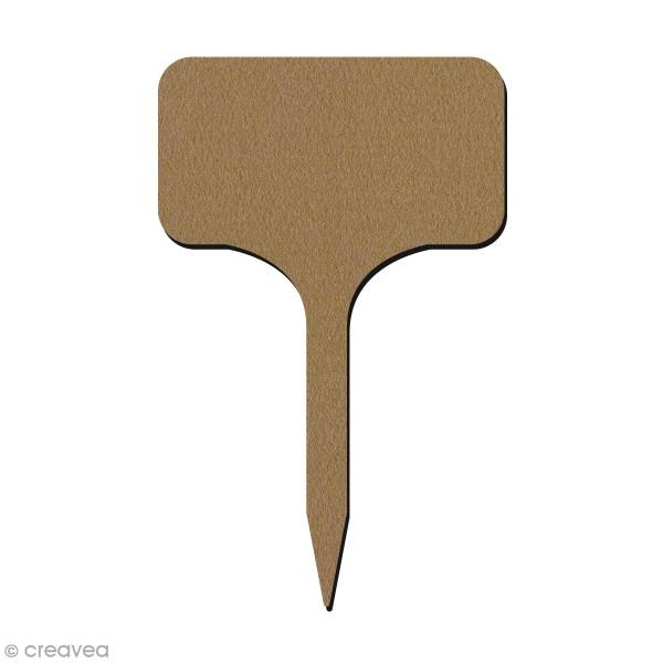 Étiquette en bois pour plantes - Grand modèle - 19 cm - Photo n°1
