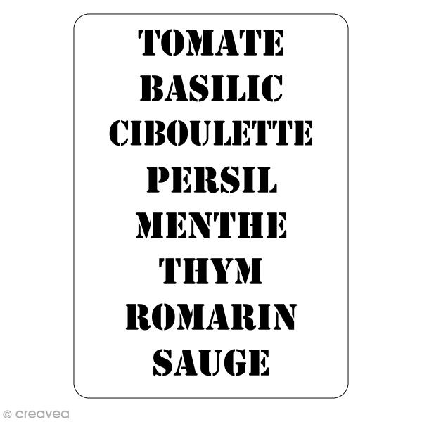 Pochoir multiusage - Aromates - 20 x 15 cm - Photo n°1