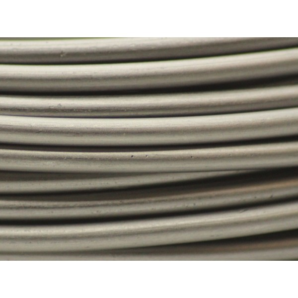5 Mètres fil aluminium gris métal 3mm - Photo n°1