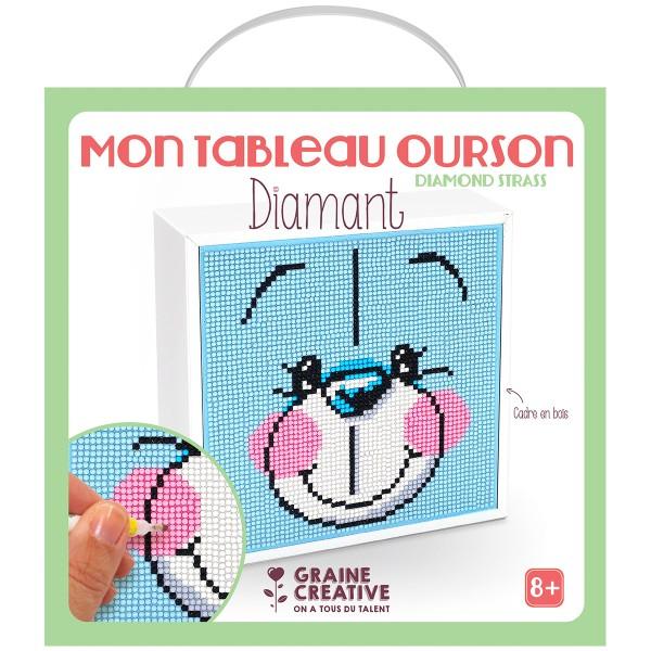Kit Diamond Painting - Mon tableau Ourson - 18 x 18 cm environ - Photo n°2