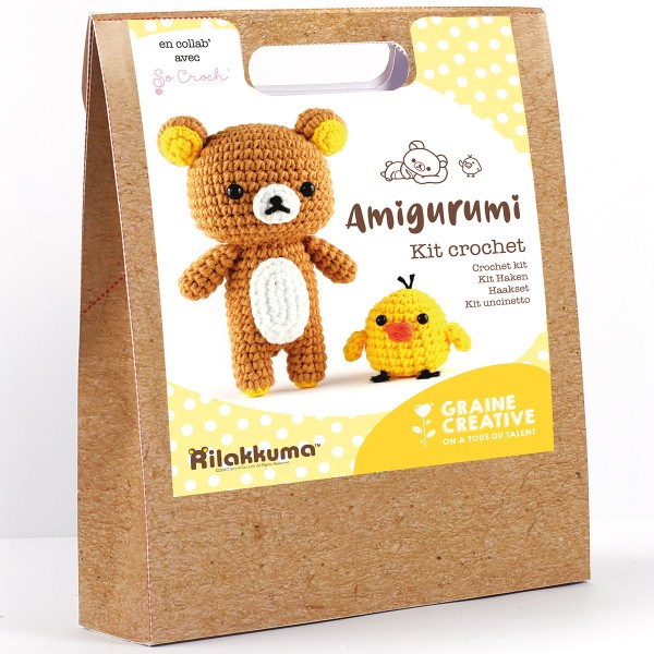 Kit Crochet Amigurumi - Rilakkuma - 15 pcs - Photo n°1