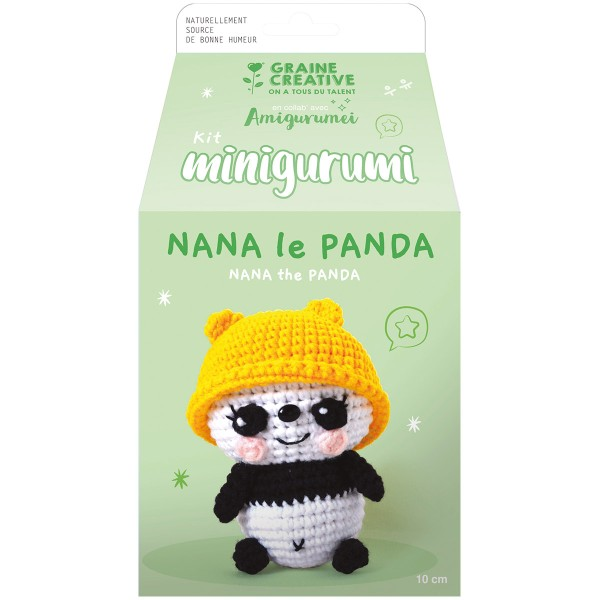 Kit Crochet Amigurumi - Nana le Panda - Photo n°3