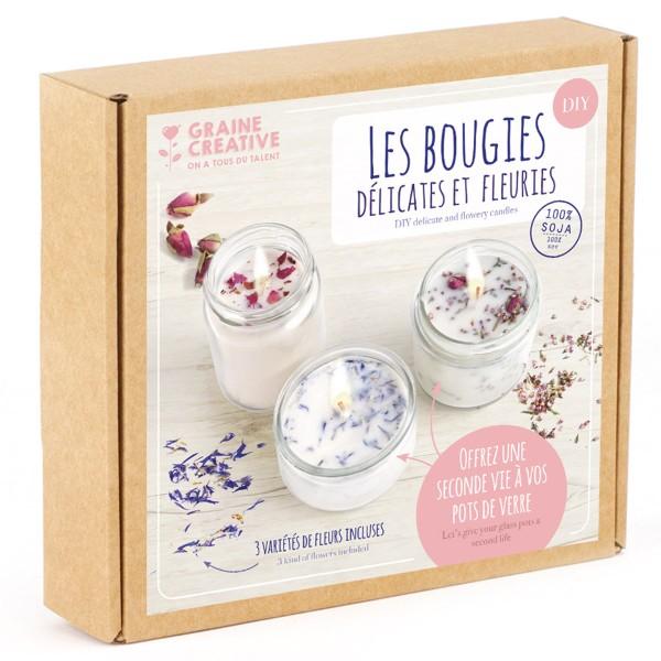 Kit Bougies - Fleurs séchées - Photo n°1