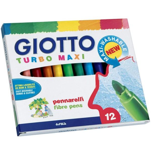 Etui de 12 feutres de coloriage Turbo Maxi GIOTTO - Photo n°1