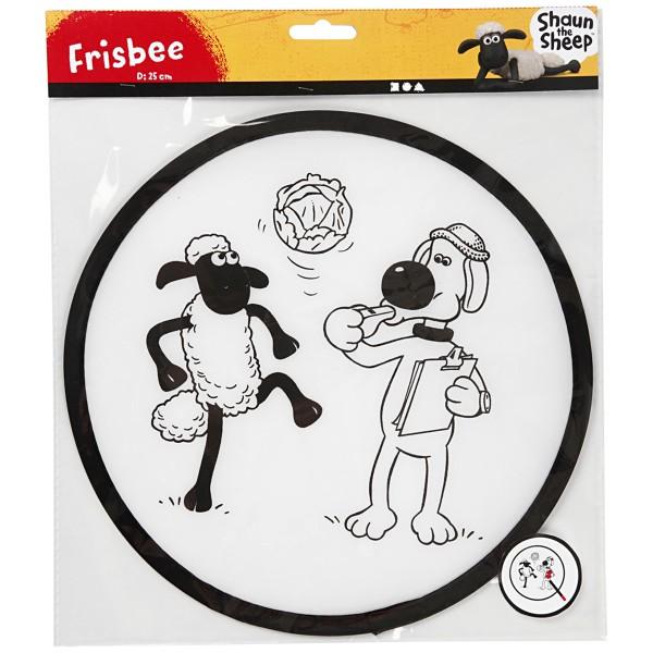 Kit activité manuelle Shaun le Mouton - Frisbee à décorer - 25 cm de diamètre - 1 pcs - Photo n°1