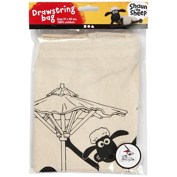 Kit activité manuelle Shaun le Mouton - Sac à colorier - 37 x 40 cm - Photo n°1