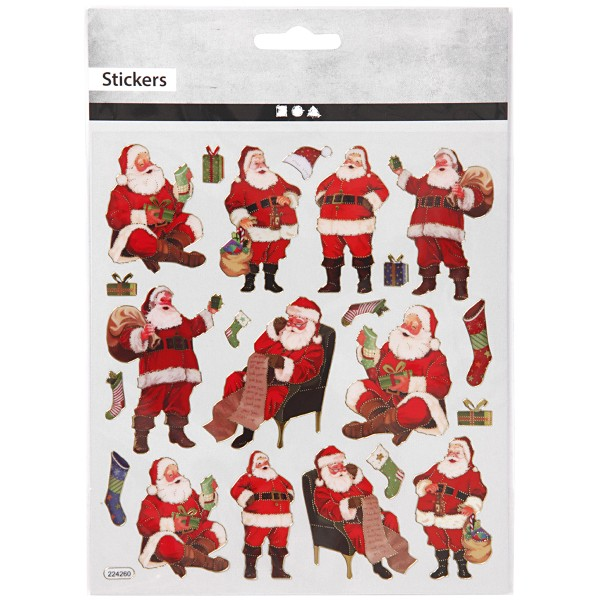 Stickers Noël Creotime - Père Noël - 22 pcs - Photo n°2