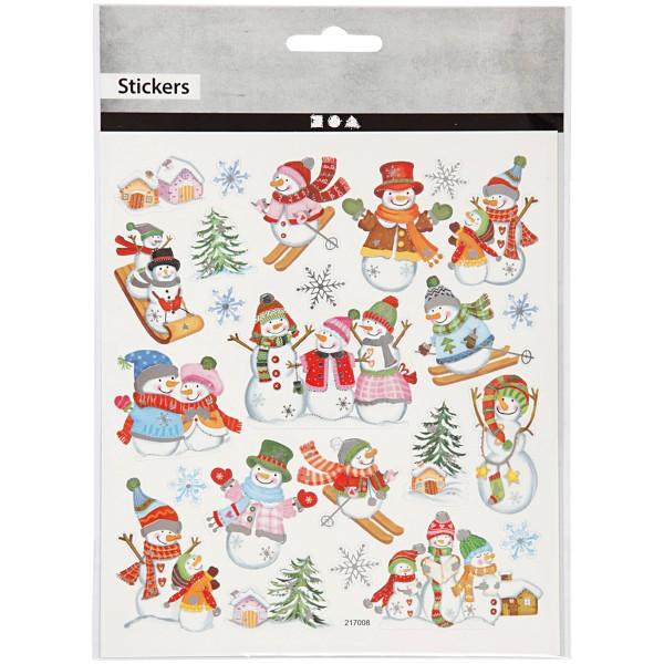 Stickers Noël Creotime - Bonhomme de neige - 24 pcs - Photo n°2