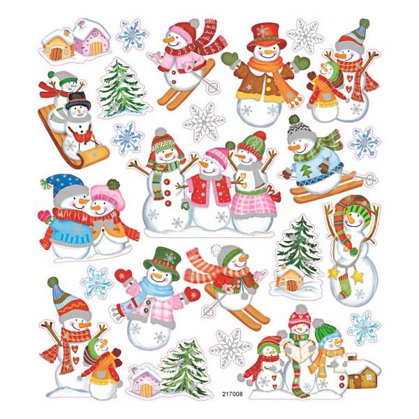 Stickers Noël Creotime - Bonhomme de neige - 24 pcs - Photo n°1
