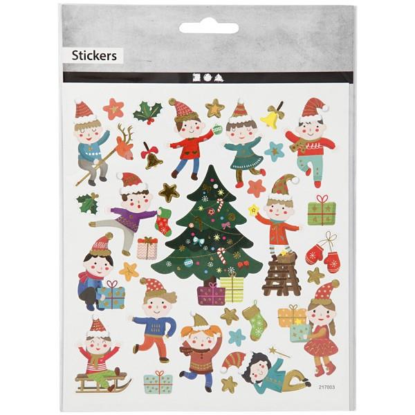 Stickers Noël Creotime - Les enfants et Noël - 32 pcs - Photo n°2
