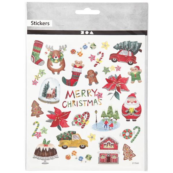 Stickers Noël Creotime - Décor de Noël - 25 pcs - Photo n°2