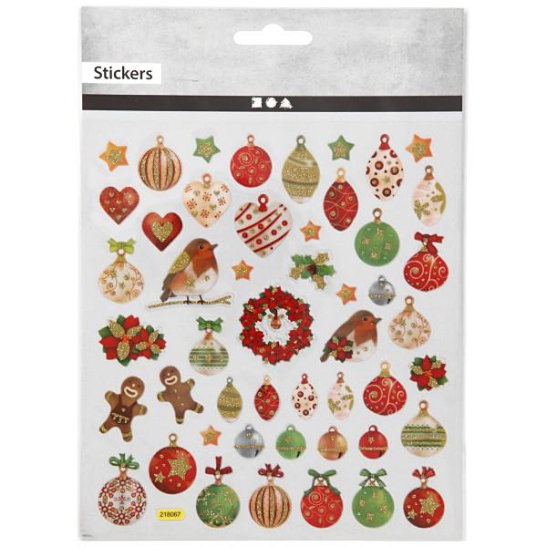 Stickers Noël Creotime - Décorations de Noël - 50 pcs - Photo n°2