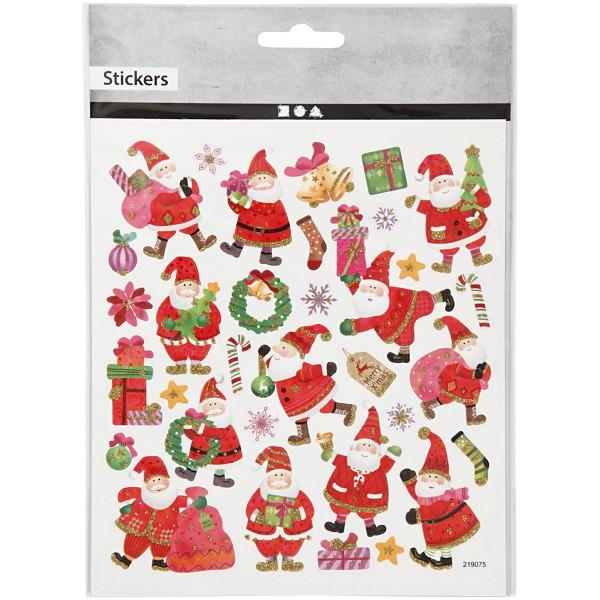 Stickers Noël Creotime - Père Noël et joyeux - 33 pcs - Photo n°2