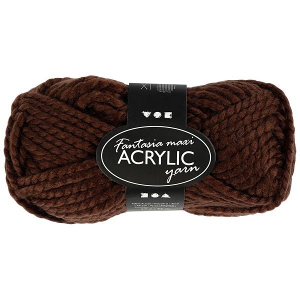 Pelote de laine Fantasia Maxi - Acrylique - Marron - 50 gr - 35 m - Photo n°1