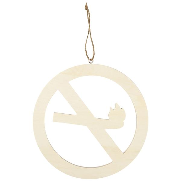 Panneau Ne pas fumer en bois à décorer - 21,3 cm - Photo n°1
