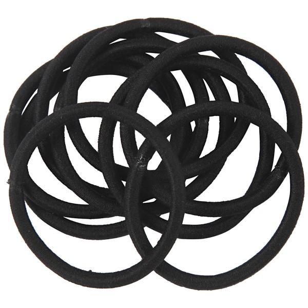 Lot d'élastiques à cheveux - Noir - 45 mm - 10 pcs - Photo n°3