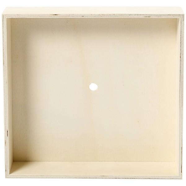 Support en bois à décorer pour horloge - Carré - 19 x 19 x 3 cm - Photo n°3