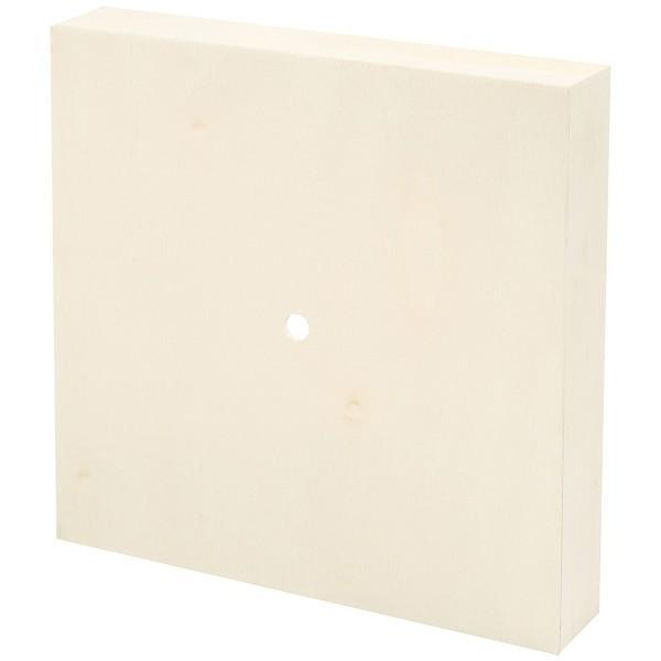 Support en bois à décorer pour horloge - Carré - 19 x 19 x 3 cm - Photo n°4