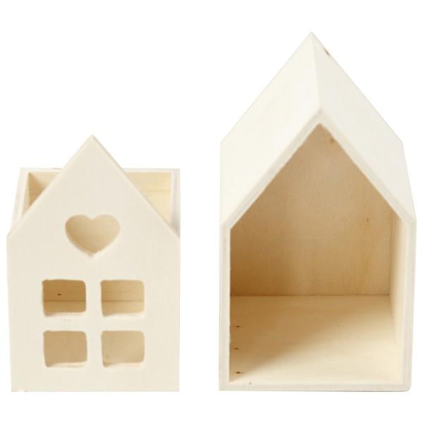 Petite maison en bois à décorer - 6,7 x 6,7 x 10,8 cm - Photo n°2