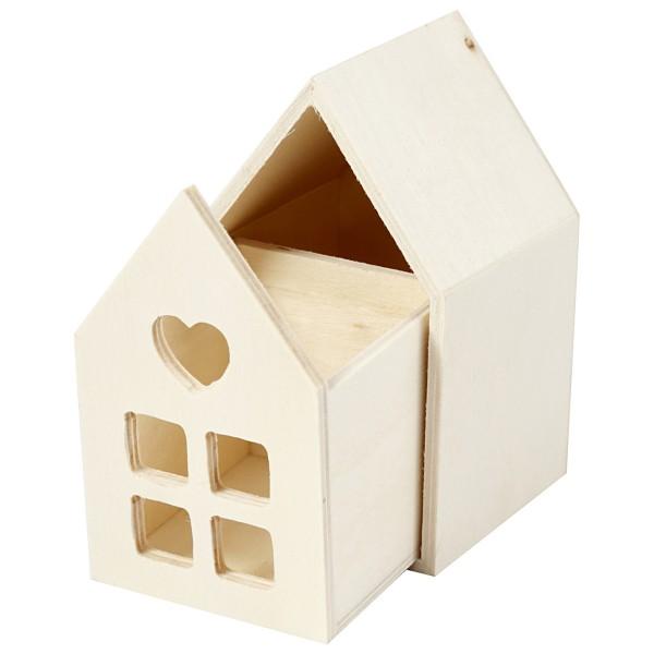 Petite maison en bois à décorer - 6,7 x 6,7 x 10,8 cm - Photo n°3