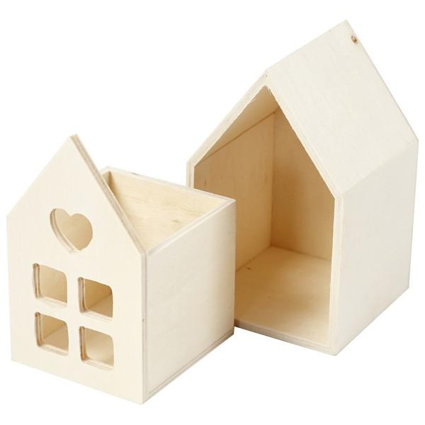 Petite maison en bois à décorer - 6,7 x 6,7 x 10,8 cm - Photo n°4