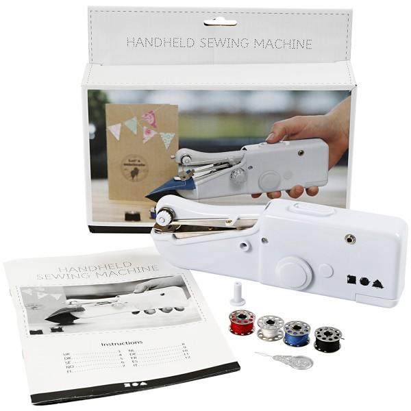 Mini Machine à Coudre portable - Blanc - Photo n°4
