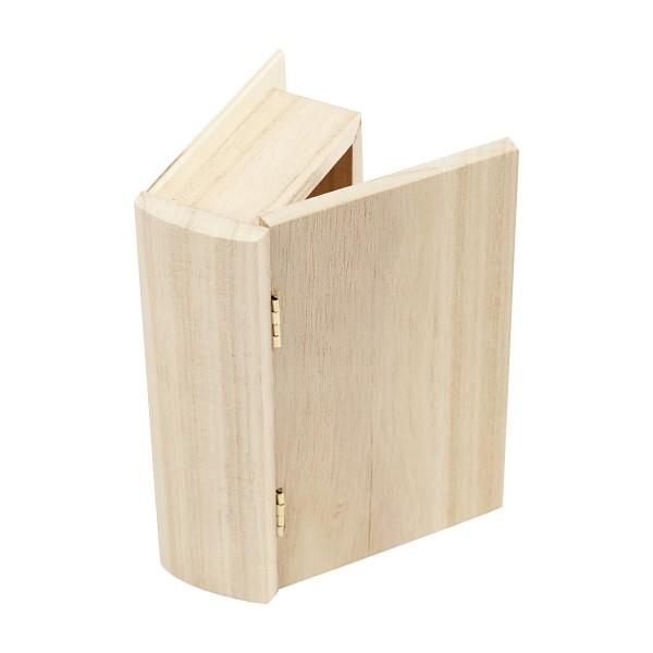 Boite en bois à décorer - Livre - 9 x 14 cm - Photo n°2
