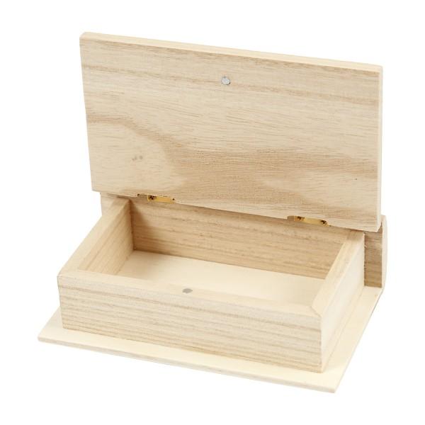Boite en bois à décorer - Livre - 9 x 14 cm - Photo n°3