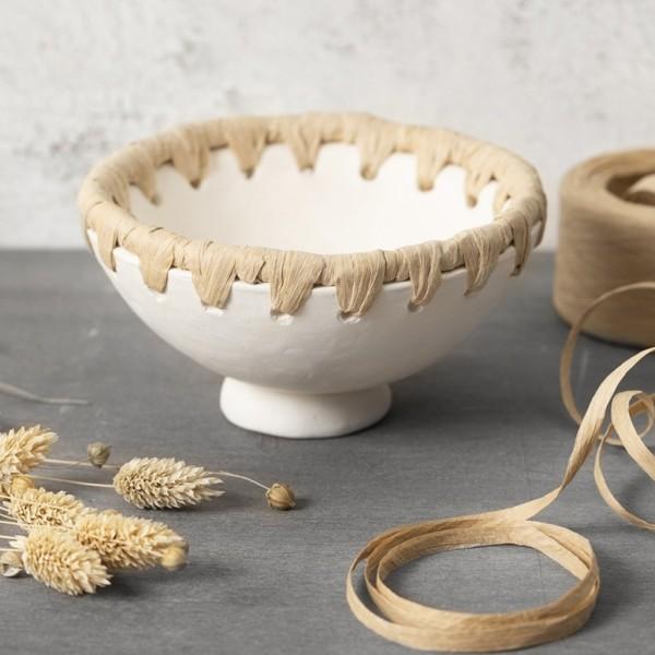 Argile auto-durcissante - Blanc - 1 kg - Photo n°2