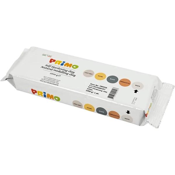 Argile auto-durcissante - Blanc - 1 kg - Photo n°1