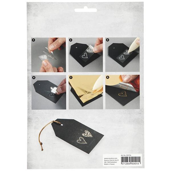 Set de papier transfert métallisé - Déco de Noël - 15 x 15 cm - 4 pcs - Photo n°3