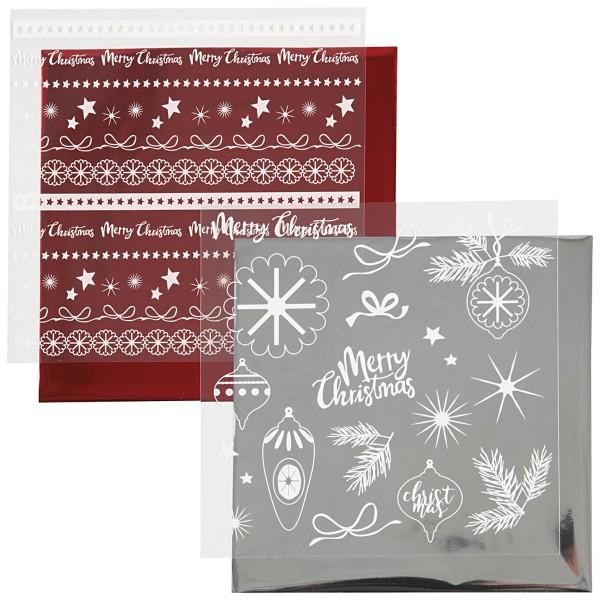 Set de papier transfert métallisé - Déco de Noël - 15 x 15 cm - 4 pcs - Photo n°4