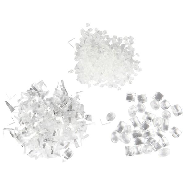 Assortiment de paillettes - Neige artificielle - 3 flacons - Photo n°2