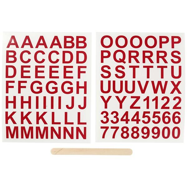 Décalcomanies - Tous types de supports - Alphabet Rouge - 2 feuilles - Photo n°4