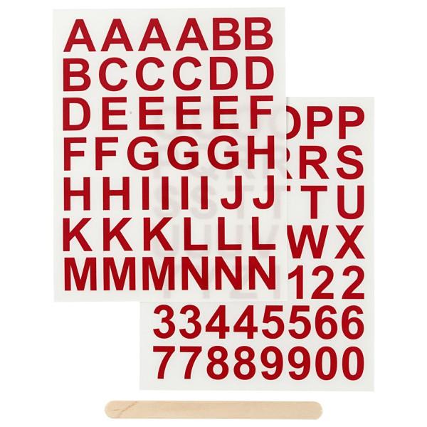 Décalcomanies - Tous types de supports - Alphabet Rouge - 2 feuilles - Photo n°1