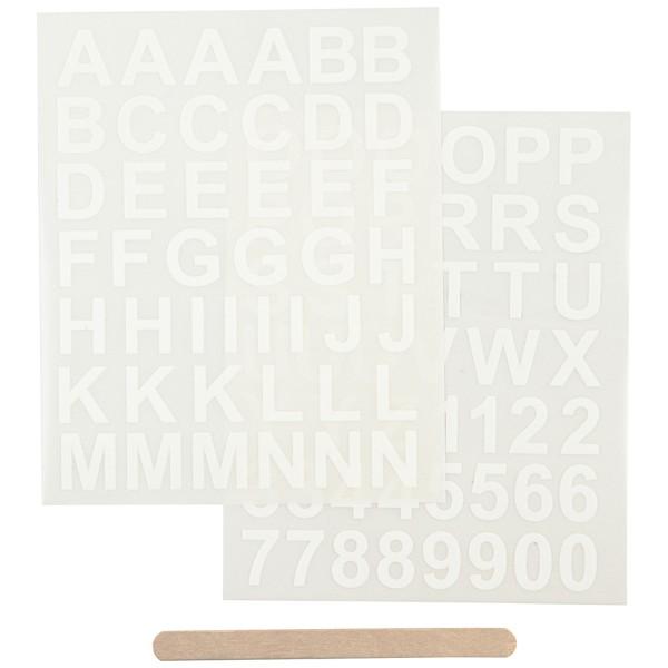 Décalcomanies - Tous types de supports - Alphabet Blanc - 2 feuilles - Photo n°1