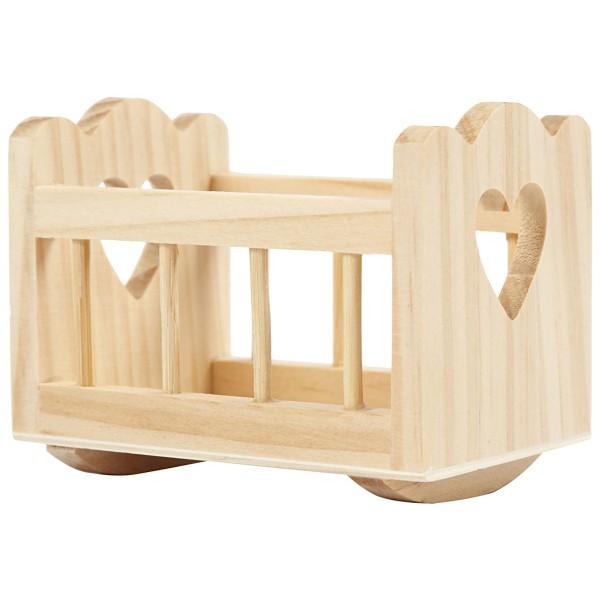Berceau miniature en bois - 8 x 5 cm - 1 pce - Photo n°2