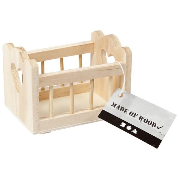 Berceau miniature en bois - 8 x 5 cm - 1 pce - Photo n°4