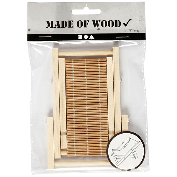 Transat miniature en bois - 9,5 x 7,5 cm - 1 pce - Photo n°6