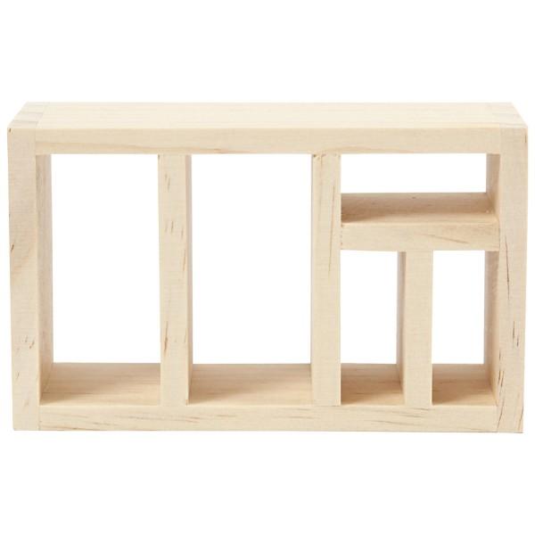 Meuble bibliothèque miniature en bois - 6 x 10 x 4 cm  - 1 pce - Photo n°2