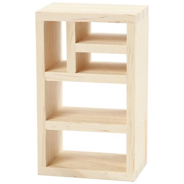 Meuble bibliothèque miniature en bois - 6 x 10 x 4 cm  - 1 pce - Photo n°3