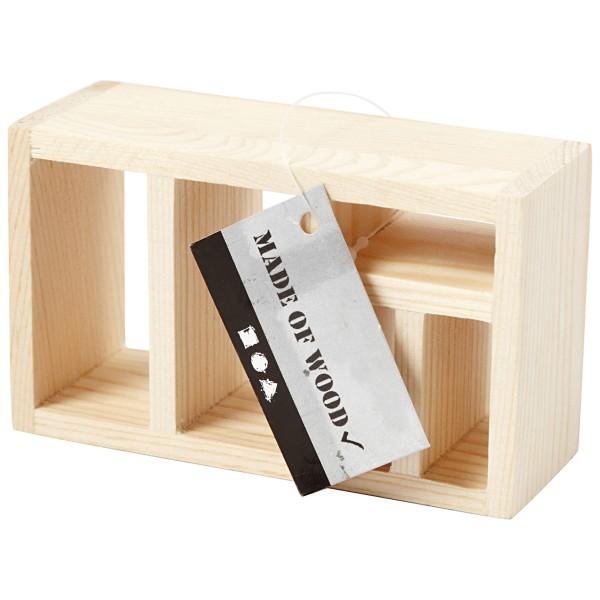 Meuble bibliothèque miniature en bois - 6 x 10 x 4 cm  - 1 pce - Photo n°4