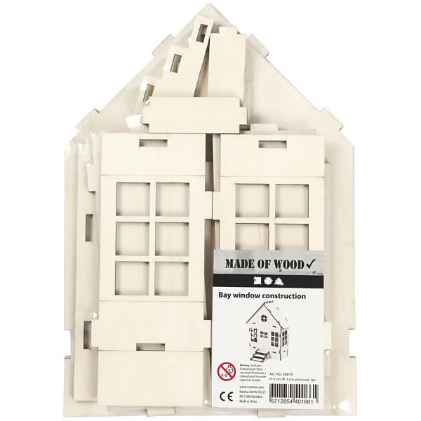 Maison en bois à assembler - 24 x 19 x 6,5 cm - Photo n°2