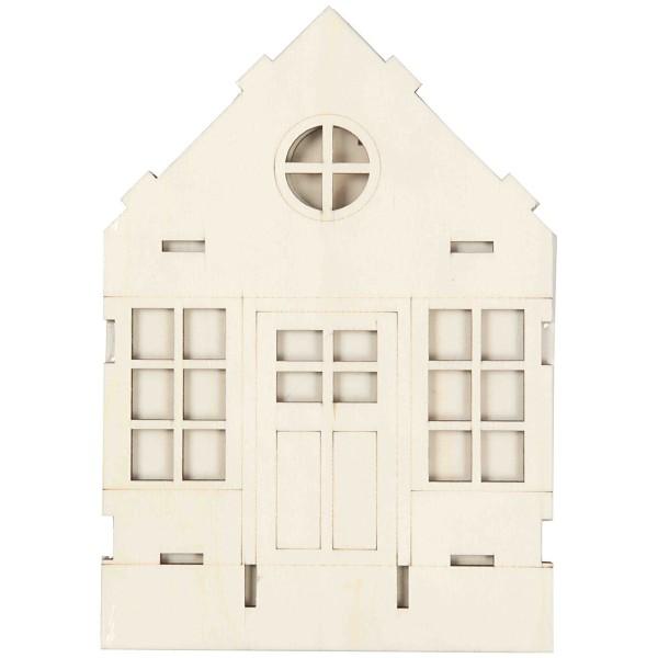 Maison en bois à assembler - 24 x 19 x 6,5 cm - Photo n°4