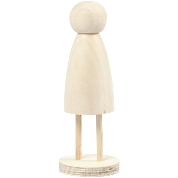 Figurine en bois à décorer - 13,8 x 5 cm - 1 pce - Photo n°1