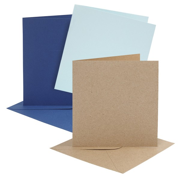 Cartes et enveloppes - 15,2 x 15,2 cm - 4 sets - Photo n°1